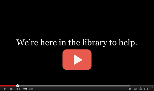 Welcome to the M.Ed. library guide video title page