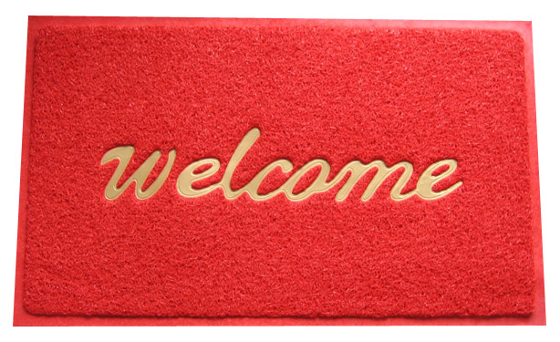 "Doormat that says ""welcome"""