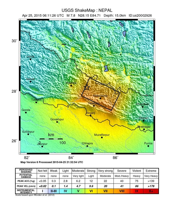 Nepal Earthquake Map.Resources From The Uc Berkeley Earth Sciences Map Library Nepal
