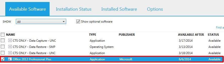 Office 2013 Install