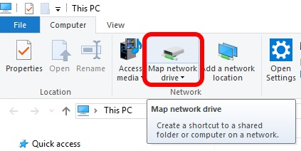 Map Win  Folder To Drive Letter