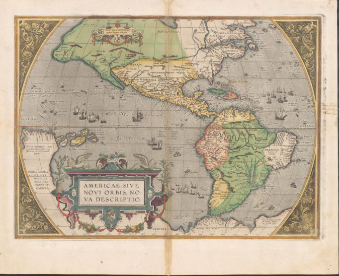 Old World Map Carte approx 1856 PAPER//CANVAS