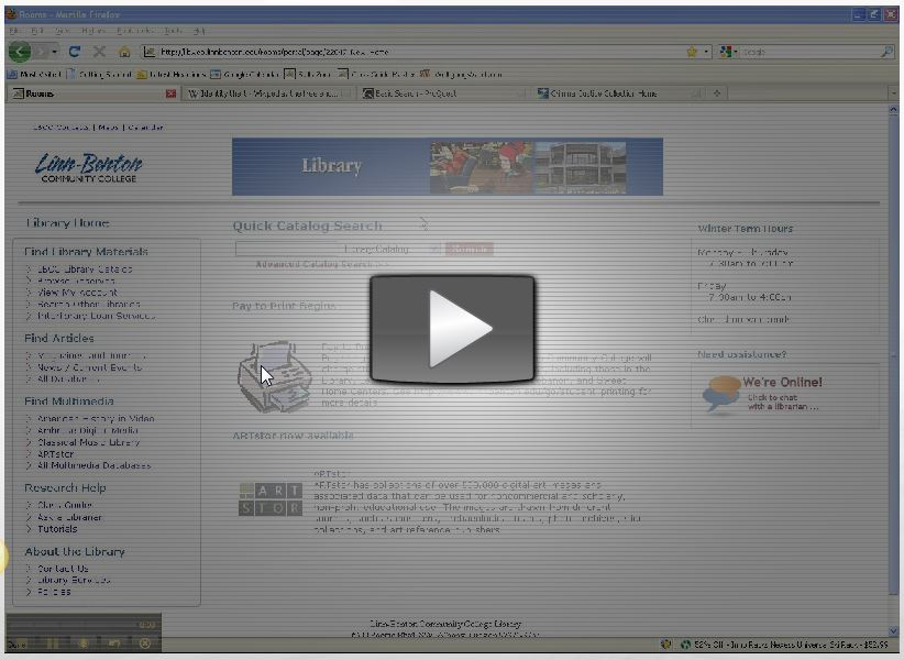 Video tutorial on finding articles for criminal justice research