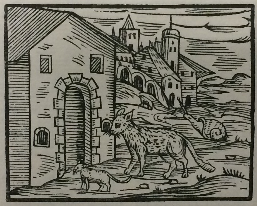 Image of a dog from the book Compendium Maleficarum