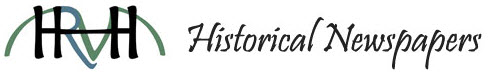 HRVH Historical Newspapers Logo