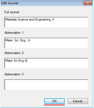 In The List Journal Will Display Entered Abbreviations
