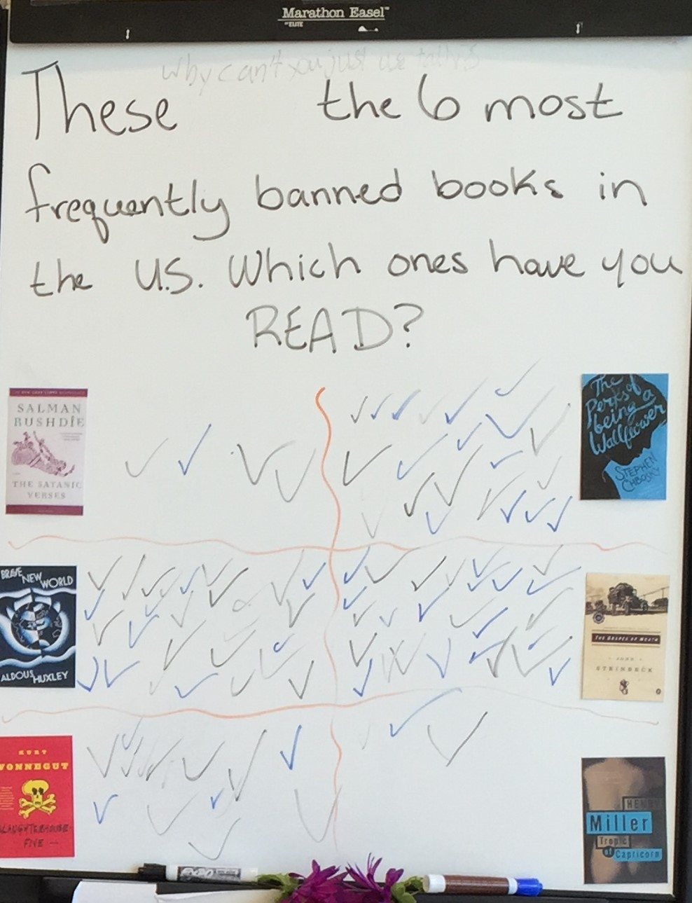 reading banned books image