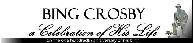Bing Crosby celebration banner