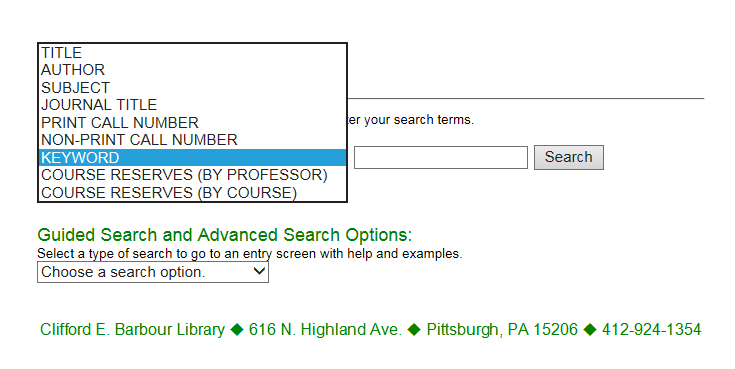Searching the Library Catalog - Finding Books - Library