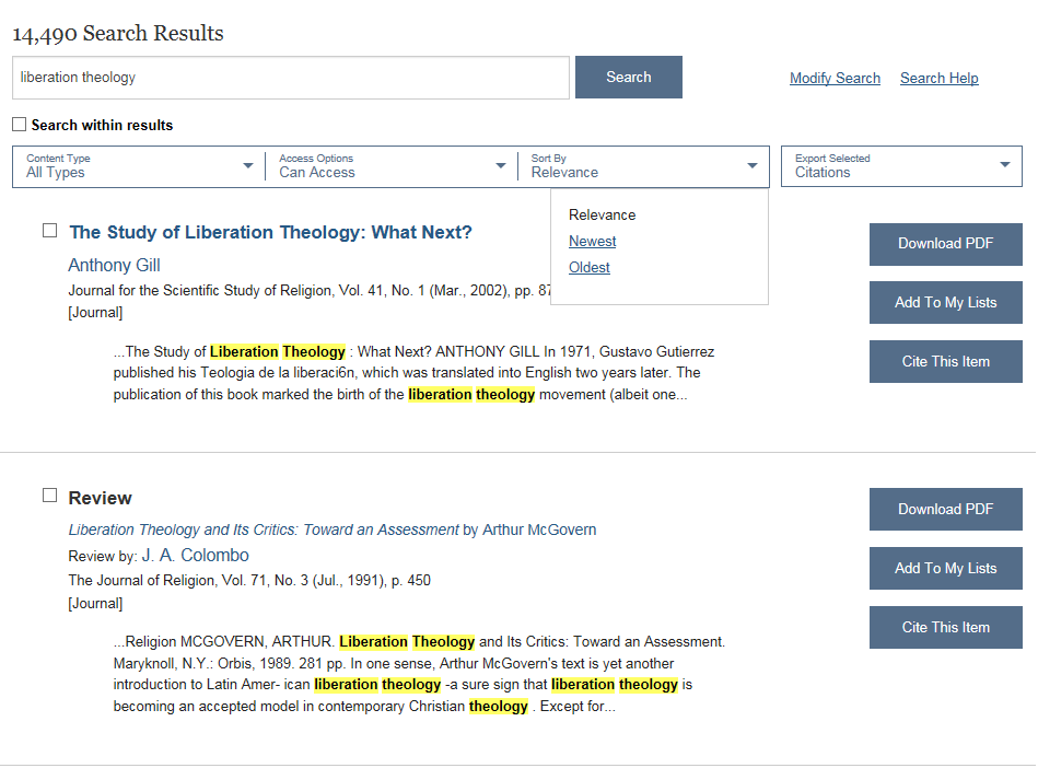 Searching JSTOR - JSTOR - Library Guides at Pittsburgh