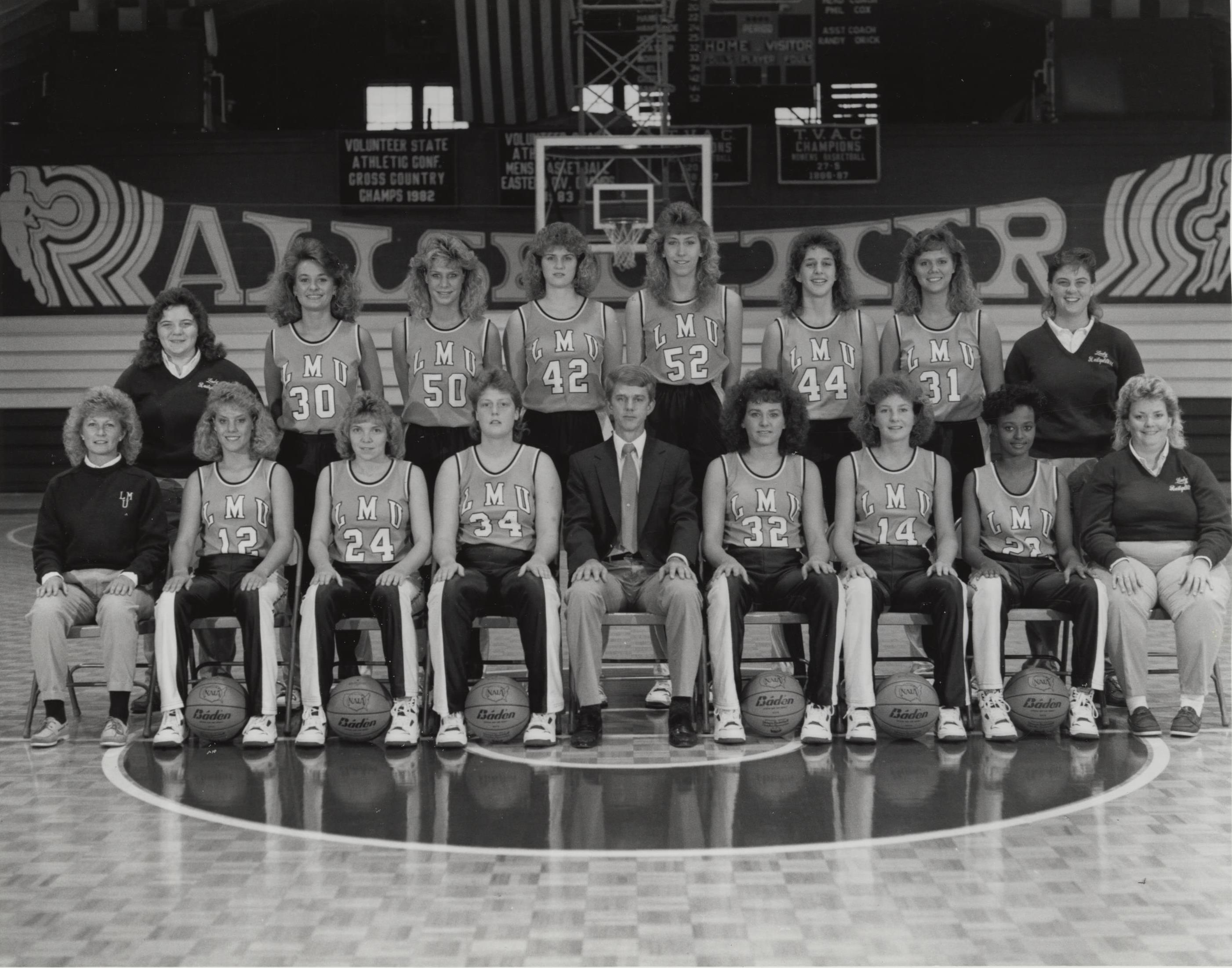 Women's Basketball Team, 1988