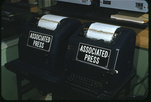 News Wire machines (one national; one international)