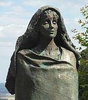 Bronze bust of St. Hildegard