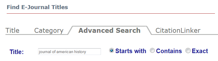 ejournals search example