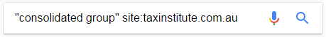 Search across the Tax Institute via Google