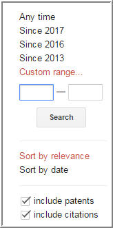 google scholar refine search