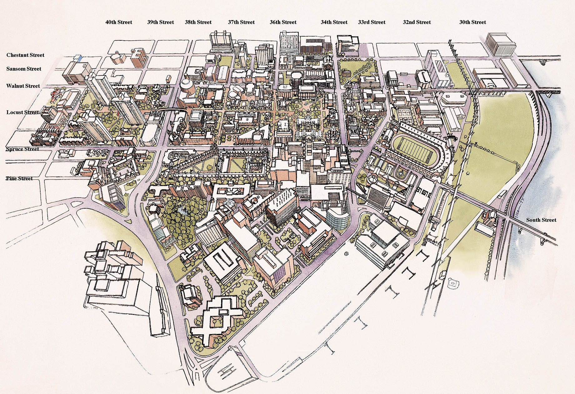 Maps Reseach Guide To The University Of Pennsylvanias Campus - Penn map state maps