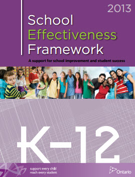 school effectiveness framework cover