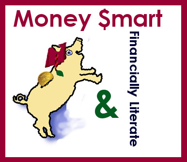 A financially literate and money smart piggy bank is our logo