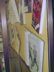 A deep view of the display case