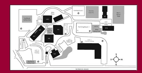 Map of the Dunwoody Campus