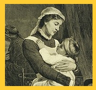 A nurse holds a young child