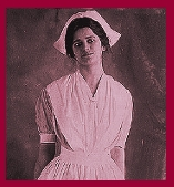 Dorcas Snodgrass, a nurse photographed in 1910