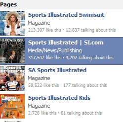 Here is Facebook's search box