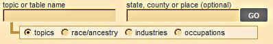 Select a table name box