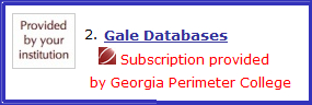 This is Gale Databases