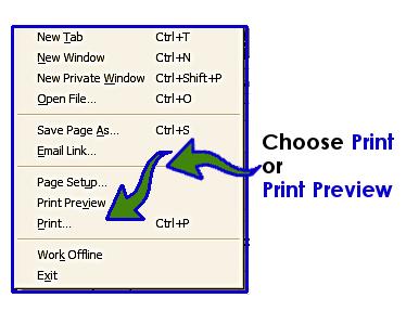 Click Print Preview in the File Menu