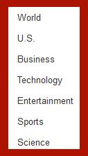 Google News Categories