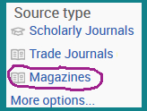 ProQuest's limit to magazine box