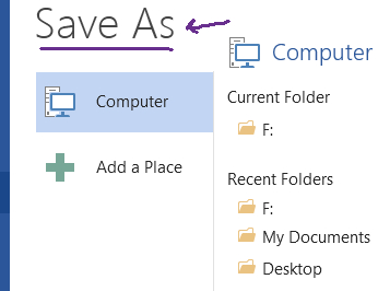 Choose saveas instead of save