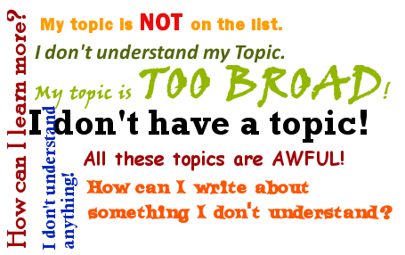 The Topicle, similar to a wordle but about choosing a paper topic