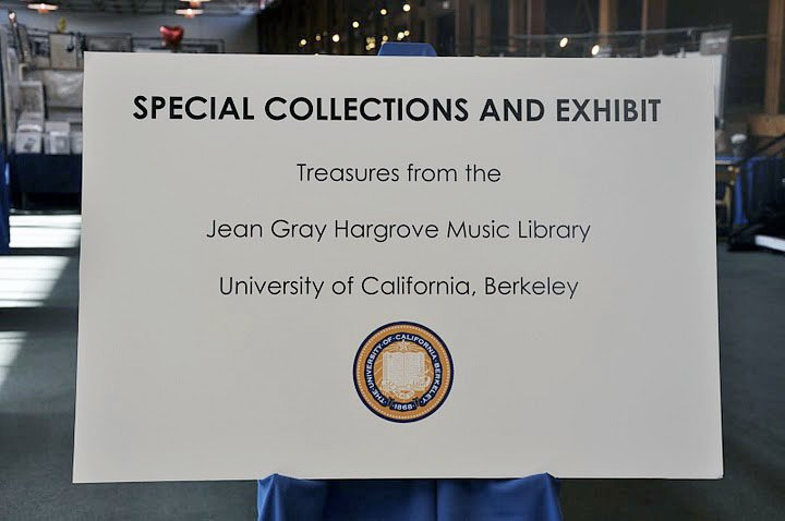SF Antiquarian Book Fair, Hargrove Music Library exhibit entrance