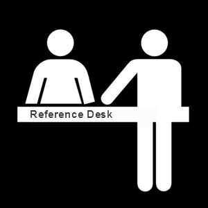 reference desk vector