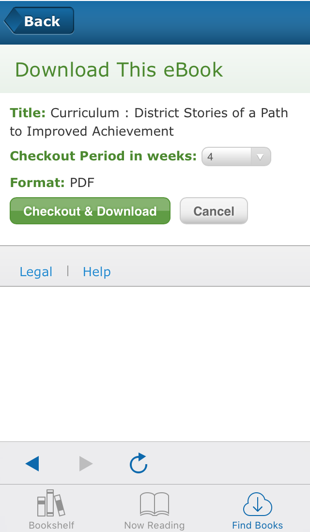 screenshot of EBSCO eBooks Mobile App download page