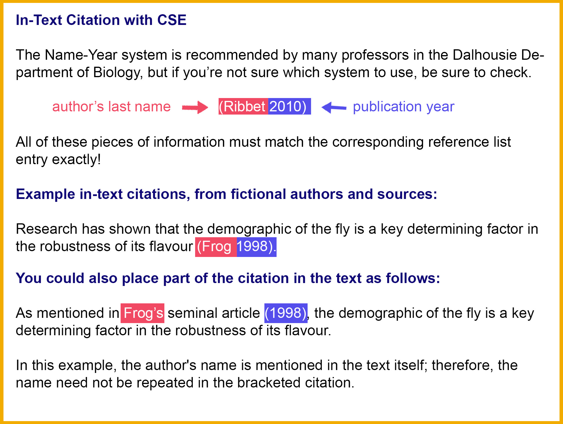 Cse 8th Edition Citation Style Guide Libguides At Dalhousie