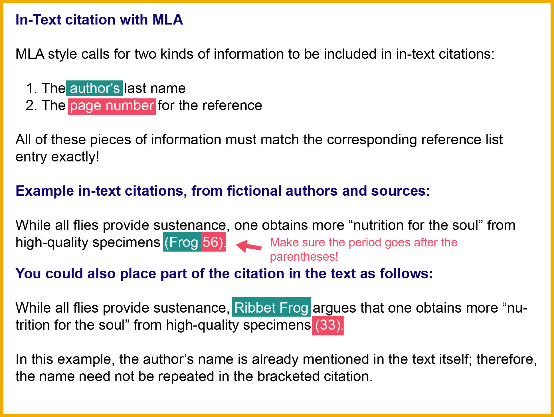 in text citation mla