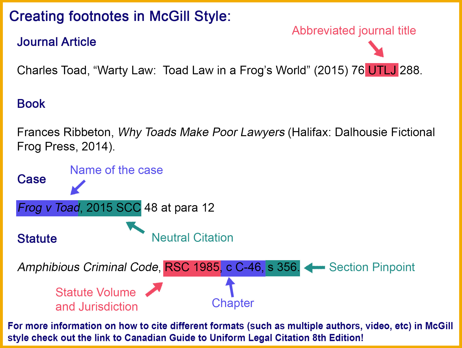 mcgill 8th edition - citation style guide