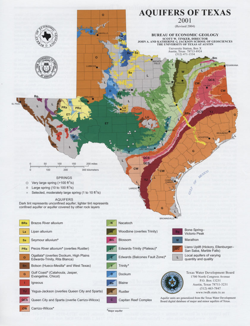 Aquifers of Texas 2001