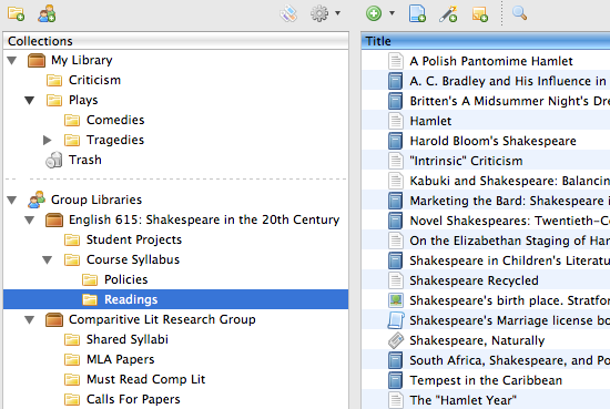 Zotero Group Libraries