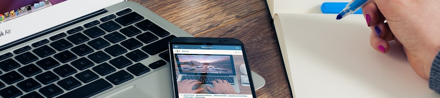 Computer, Cellphone, and notes Image