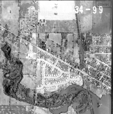 Detail from Wayne County aerial photograph, 1962