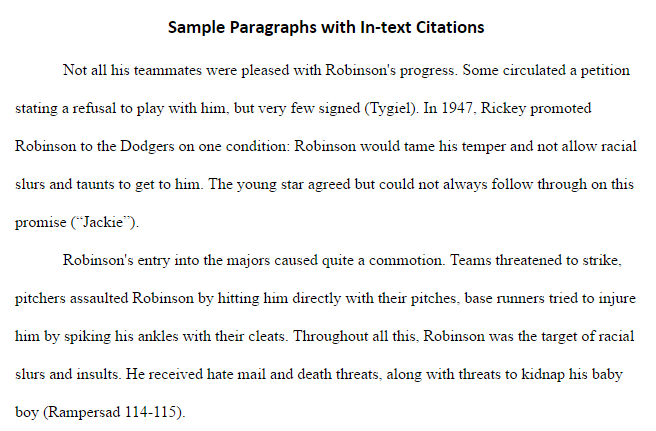 In-text Citations - 7th Grade: Paraphrasing & Citing - LibGuides at