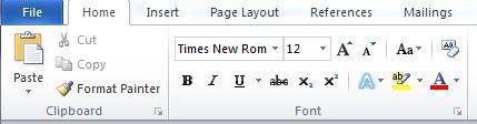 Screenshot showing font options