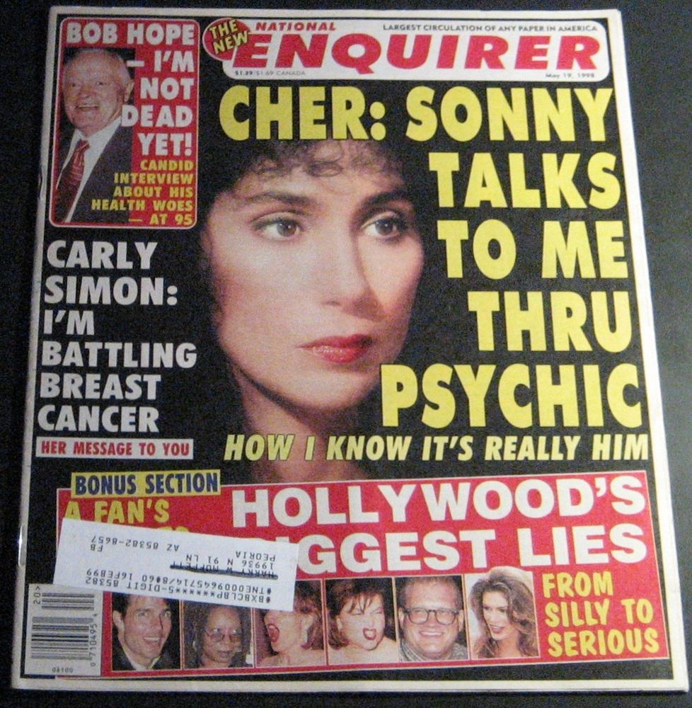 Image of a National Enquirer cover from May 19, 1998