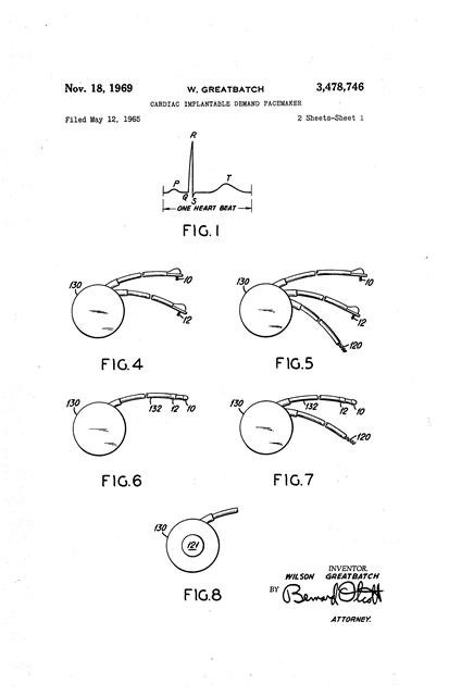 Pacemaker patent drawing