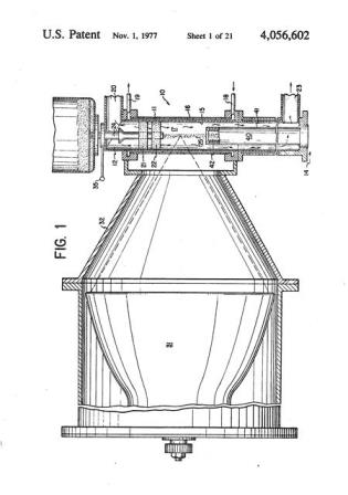 A diagram of a fluid wall reactor